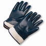 PIP® Large  Heavy Weight Dark Blue Nitrile Full Coated Work Gloves With Jersey Liner And Safety Cuff