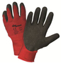 West Chester Medium Zone Defense 10 Gauge Red Crinkle Finish Palm Coated Work Gloves With Polyester/Cotton Liner And Knit Wrist