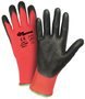 PIP® Large Zone Defense® 15 Gauge Black Nitrile Palm And Finger Coated Work Gloves With Nylon Liner And Knit Wrist