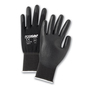 West Chester Large PosiGrip 13 Gauge Polyurethane Work Gloves With Nylon Liner And Rib Knit Cuff