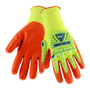 PIP® Large  10 Gauge Orange Nitrile Palm And Finger Coated Work Gloves With High Performance Polyethylene Liner And Rib Knit Cuff