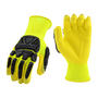 PIP® Large  13 Gauge Yellow Nitrile Palm And Finger Coated Work Gloves With Nylon Liner And Rib Knit Cuff