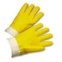 West Chester Large PVC Work Gloves With Jersey Liner And Band Top Cuff