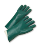 PIP® Large  Green PVC Full Coated Work Gloves With Jersey Liner And Slip-On Cuff