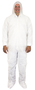 Seidman And Associates 2X White Safety Zone® Polypropylene Disposable Coveralls