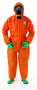 Ansell® 2X Orange Chemical Barrier Laminate Disposable Coveralls