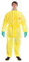 Ansell® 3X Yellow Chemical Barrier Laminate Disposable Coveralls