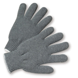 West Chester Gray Ladies Cotton And Polyester General Purpose Gloves With Knit Wrist