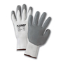 PIP® White/Gray Small Nylon And Nitrile General Purpose Gloves With Knit Wrist