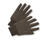 West Chester Brown Large Cotton And Polyester General Purpose Gloves With Knit Wrist