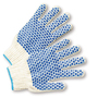 West Chester White/Blue Large Cotton And Polyester General Purpose Gloves With Knit Wrist