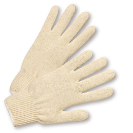 West Chester Natural Large Cotton And Polyester General Purpose Gloves With Elastic Wrist