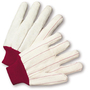 West Chester White/Red X-Large Cotton And Polyester General Purpose Gloves With Knit Wrist