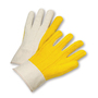 PIP® Natural/Yellow Large Cotton And Polyester General Purpose Gloves With Band Top Cuff