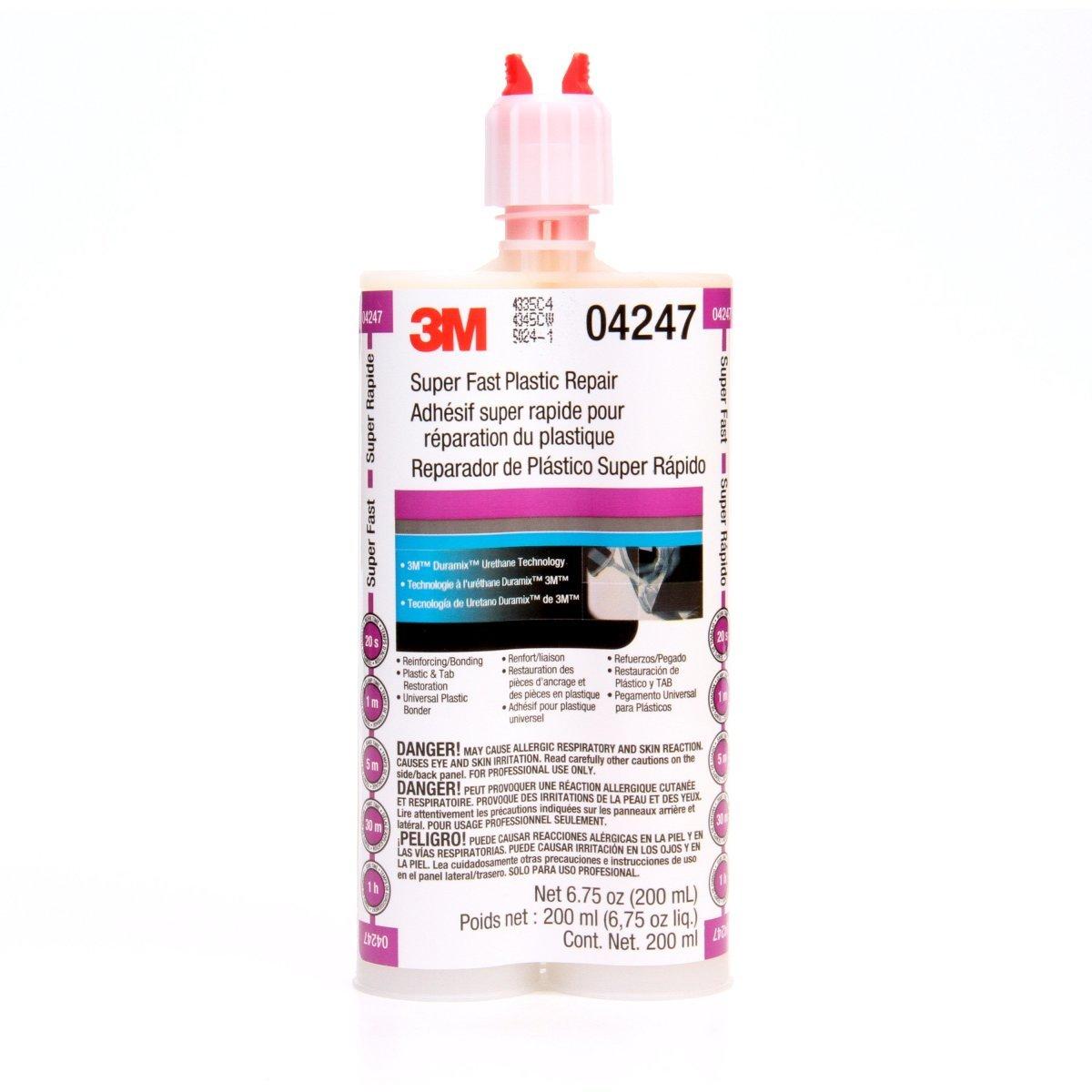3M Duramix Clear Paste 200 ml Cartridge Super Fast Plastic Repair Adhesive