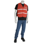 PIP® One Size Fits Most Red 1 Polyester Command Vest