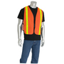 PIP® One Size Fits Most Hi-Vis Orange And Hi-Vis Yellow Mesh Safety Vest With Prismatic Tape