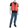PIP® One Size Fits Most Hi-Vis Orange And Hi-Vis Yellow Mesh Safety Vest