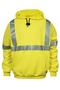 National Safety Apparel® 2X Fluorescent Yellow VIZABLE® FR 10.5 oz. Modacrylic/Cotton/Fleece 20 cal/cm² Sweatshirt