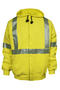 National Safety Apparel® Large Fluorescent Yellow VIZABLE® FR 10.5 oz. Modacrylic/Cotton/Fleece 20 cal/cm² Sweatshirt