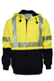 National Safety Apparel® Large Fluorescent Yellow And Navy VIZABLE® FR 33 oz. Modacrylic/Cotton/Fleece 26 cal/cm² Sweatshirt