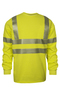 National Safety Apparel® Medium Fluorescent Yellow VIZABLE® FR 7.75 oz. Modacrylic/Cotton 10 cal/cm² Long Sleeve T-Shirt
