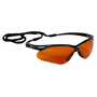 Kimberly-Clark Professional* Jackson Safety* Nemesis* Black Safety Glasses With Brown Copper Blue Shield Hard Coat Lens