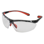 Kimberly-Clark Professional* KleenGuard™ Maxfire* Black And Red Safety Glasses With Clear Anti-Fog/Anti-Scratch Lens