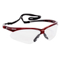 Kimberly-Clark Professional* KleenGuard™ Nemesis* Red Safety Glasses With Clear Anti-Fog/Hard Coat Lens (Lead time for this product may be longer than normal.)