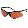 Kimberly-Clark Professional* Smith & Wesson® Code 4* Black Safety Glasses With Brown Copper Blue Shield Hard Coat Lens