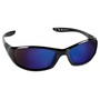 Kimberly-Clark Professional* Jackson Safety* Hellraiser* Black Safety Glasses With Blue Mirror/Hard Coat Lens