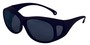 Kimberly-Clark Professional* Jackson Safety* OTG* Black Safety Glasses With Smoke Anti-Fog/Hard Coat Lens