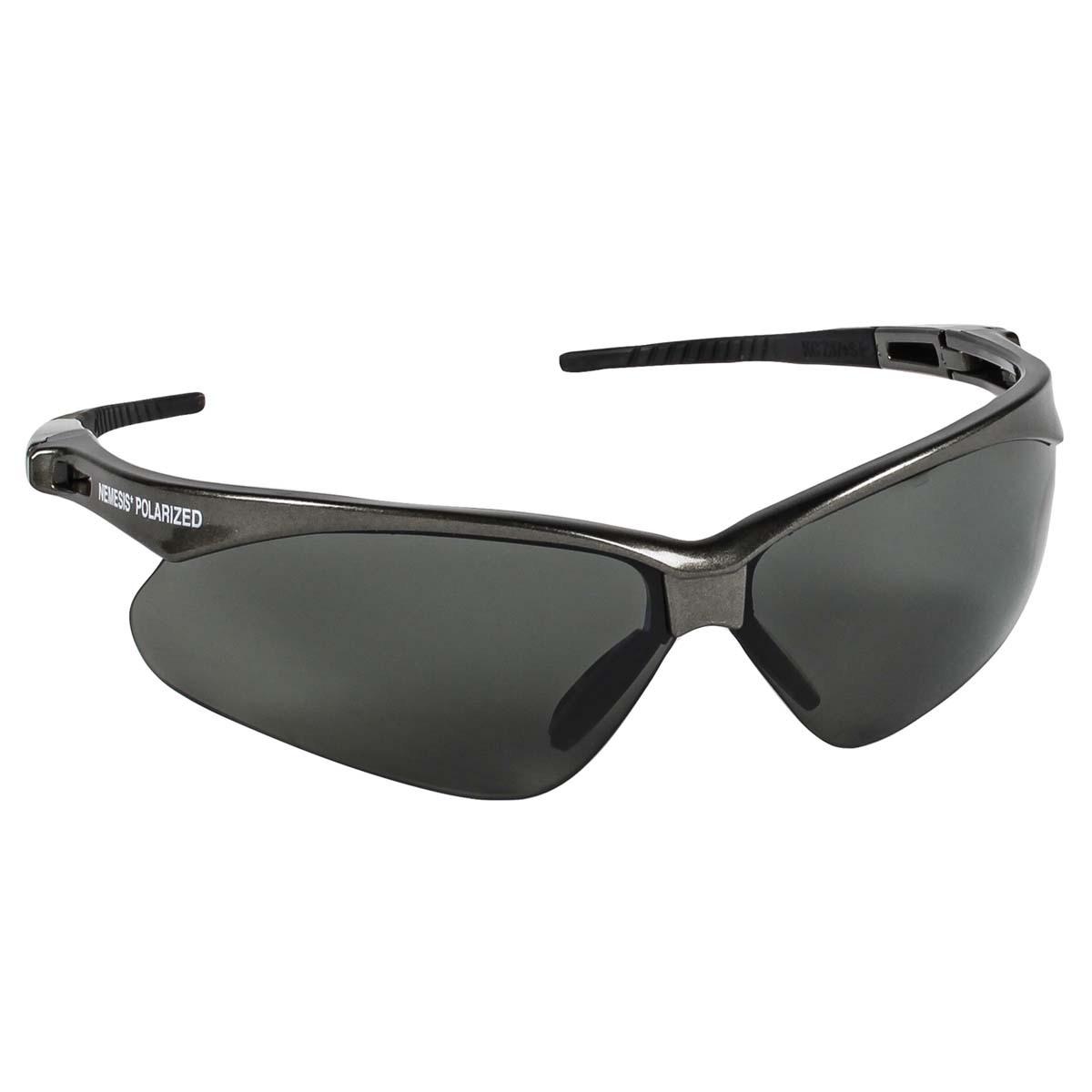 769cc4b8e5 Kimberly-Clark Professional  Jackson Safety  Nemesis  Gunmetal Safety  Glasses With Smoke Polarized