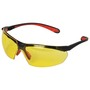 Kimberly-Clark Professional* Jackson Safety* Maxfire* Black And Red Safety Glasses With Amber Anti-Fog/Anti-Scratch Lens