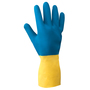Radnor® Size 9 Blue And Yellow 22 mil Latex And Neoprene Chemical Resistant Gloves