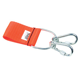 Ty-Flōt Orange Coated Polyester STRONGHOLD™ Belt Adapter With 2 Captured Screw Gate Carabineers