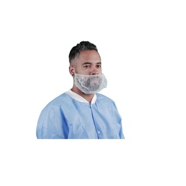 Keystone Safety® Large White Latex Free Nylon Honeycomb Beard Cover