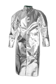 National Safety Apparel® Large Silver Aluminized Acrysil Coat With Snap Front