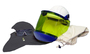 National Safety Apparel® One Size Fits Most Green Polycarbonate UltraSoft® 12 cal/cm² Head And Face Protection Kit With Hard Hat, Balaclava And Safety Goggles