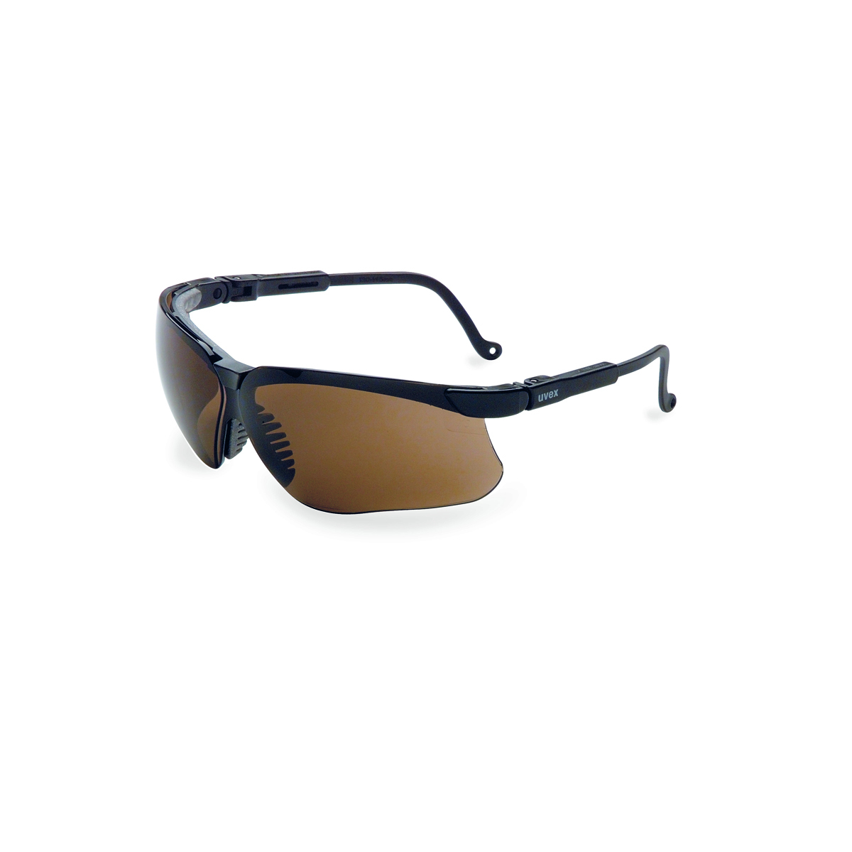 8d61b072f7 Uvex® by Honeywell Genesis Black Safety Glasses With Brown Polycarbonate  Hydroshield® Anti-Fog