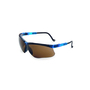 Uvex® by Honeywell Genesis Blue Safety Glasses With Brown Polycarbonate Hydroshield® Anti-Fog Lens