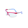 Uvex® by Honeywell Genesis Red/White/Blue Safety Glasses With Clear Polycarbonate Hydroshield® Anti-Fog Lens
