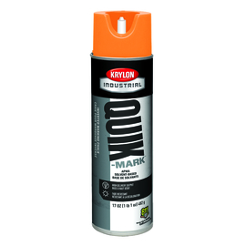 Krylon Industrial 20 Ounce Aerosol Can Flat APWA Orange Quik-Mark™ Solvent-Based Inverted Marking Chalk