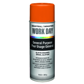 Krylon Industrial 16 Ounce Aerosol Can Gloss Orange Work Day™ Alkyd Enamel