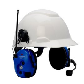 3M™ Peltor™ Lite-Com Pro II 25 dB Ambient Listening Wireless Communication Headset With Hard Hat (For Use With 2-Way Radios)