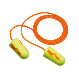 3M™ E-A-Rsoft™ Yellow Neon Blasts™ Tapered Foam/Polyurethane Corded Earplugs
