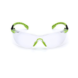 3M™ Solus™ Green/Black Safety Glasses With Clear Anti-Fog Lens