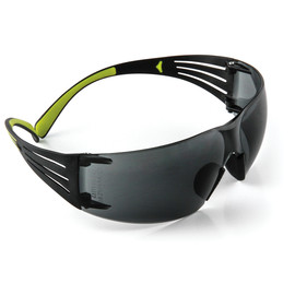 3M™ SecureFit™ Black/Green Safety Glasses With Gray Anti-Fog Lens