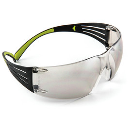 3M™ SecureFit™ Black/Green Safety Glasses With Gray Mirror/Indoor/Outdoor Lens