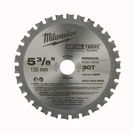 "Milwaukee® 5 3/8"" MetalTech™ Carbide Tipped Circular Saw Blade | Tuggl"